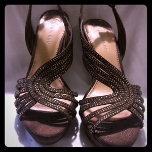 Sparkly brown Gianni bono stiletto heels🎀